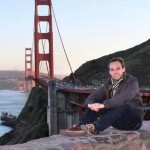 Lubitz, devant le Golden Gate, à San Francisco (Photo AFP)