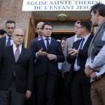 Valls et Cazeneuve à Villejuif (Photo AFP)
