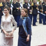 La reine Letizia et Mme Royal (Photo AFP)