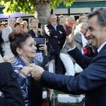 Sarkozy à l'Isle-Adam (Photo AFP)