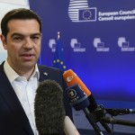 Tsipras : gesticulations (Photo AFP)