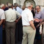 Encore la queue devant les banques grecques (Photo AFP)