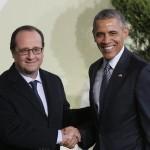 Hollande et Obama ce matin (Photo AFP)