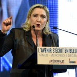 Mme Le Pen en campagne (Photo AFP)