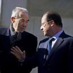 Badinter et Hollande (Photo AFP)