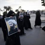 À Bahrein, des femmes manifestent (Photo AFP)