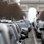 Taxis en grève à Paris aujourd'hui (Photo AFP)