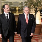 Hollande et  Raul Castro (Photo AFP)
