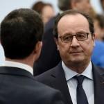 Hollande et Valls (de dos) (Photo AFP)