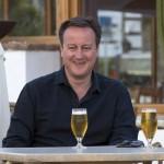 Cameron en vacances en Espagne (Photo AFP)