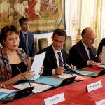 Une réunion sur les transports à Matignon samedi dernier (Photo AFP)