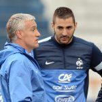 Deschamps et Benzema (Photo AFP)