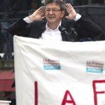 Mélenchon hier à Paris (Photo AFP)