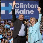 Kaine et Clinton (Photo AFP)