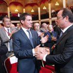Hollande salué par Valls  (Photo AFP)