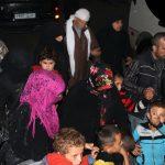 Des familles d'Alep qui ont quitté les quartiers bombardés (Photo AFP)