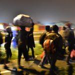 Les premiers départs au petit matin (Photo AFP)