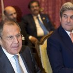 Lavrov et Kerry à Lausanne (Photo AFP)