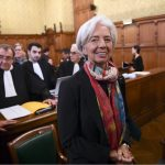 Mme Lagarde à la CJR (Photo AFP)